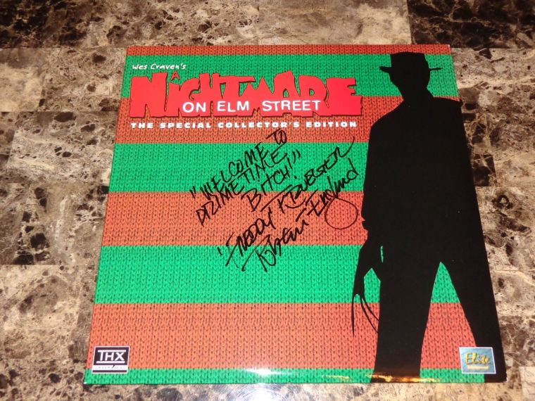 A thing of beauty http://www.ebay.com/itm/Nightmare-On-Elm-Street-RARE-Signed-Laserdisc-Robert-Englund-Collectors-Edition-/371597160979