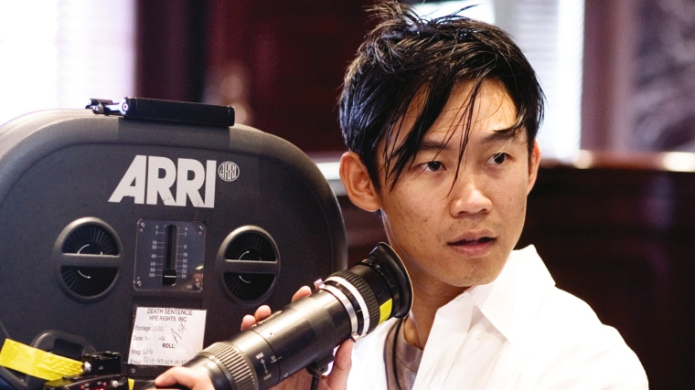James Wan on set of The Conjuring 2